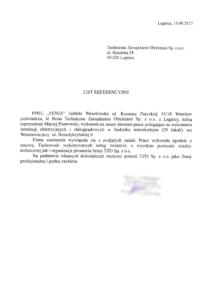 """obrazek do wpisu List referencyjny z PPHU """"FENIX"""""""