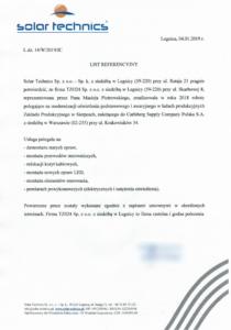 obrazek do wpisu List referencyjny z Solar Technics – Modernizacja oświetlenia hal