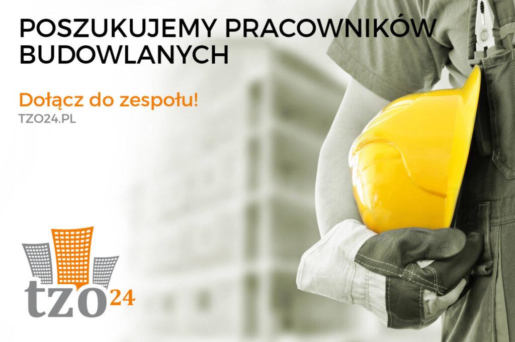 Pracownicy budowlani poszukiwani!