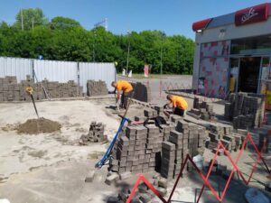 obrazek do wpisu Prace budowlane i elektryczne na stacji paliw w Chrzanowie